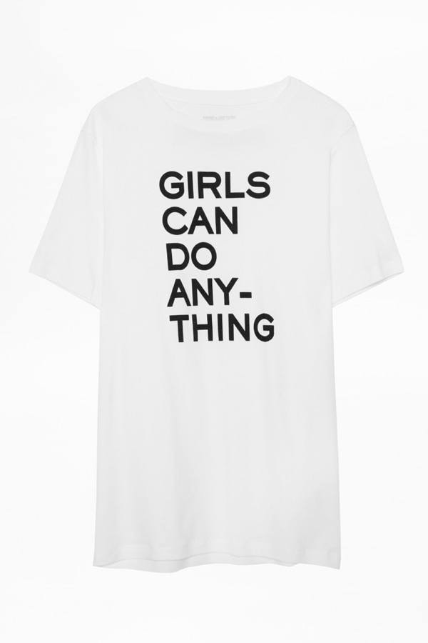[Zadig & Voltaire] Girls Can Do Anything 티셔츠☺울랄라 편집샵☺