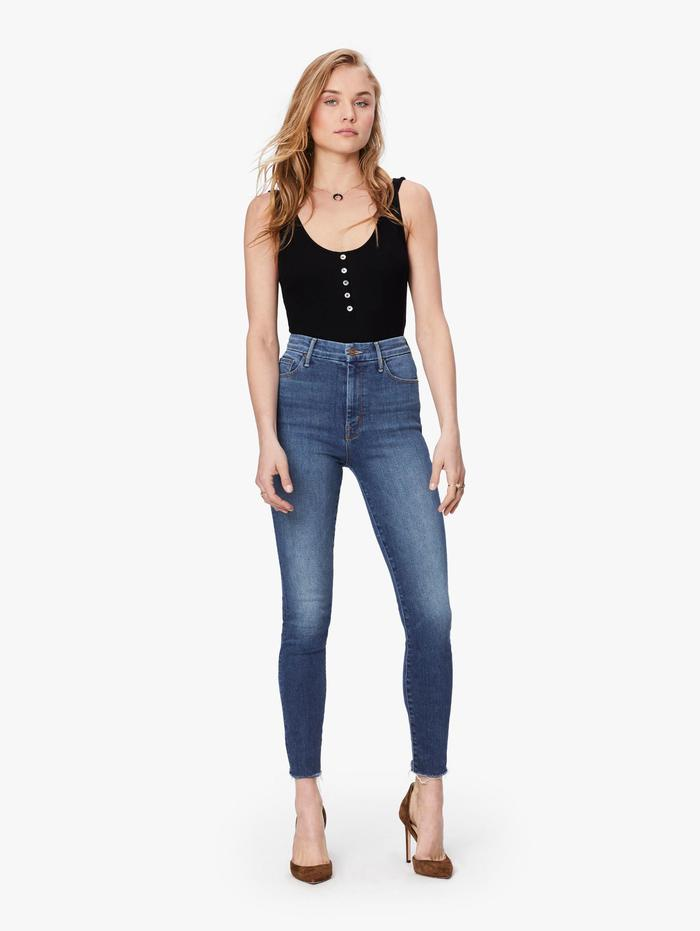 Womens High Waisted Looker Ankle Fray Big Sky Skinny Jeans울랄라 편집샵