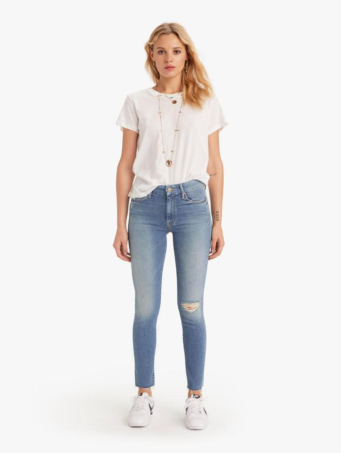 Womens The Looker Ankle Fray Skinny Blue Jeans울랄라 편집샵