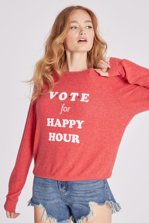 Vote Happy Hour Baggy Beach Jumper울랄라 편집샵